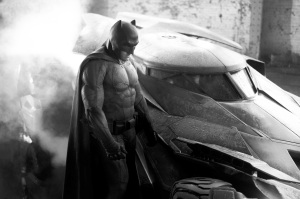 Batfleck and Batmobile